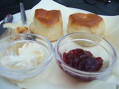 Cornish cream tea In Padstow