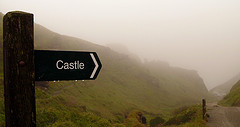 Tintagel Castle Sign